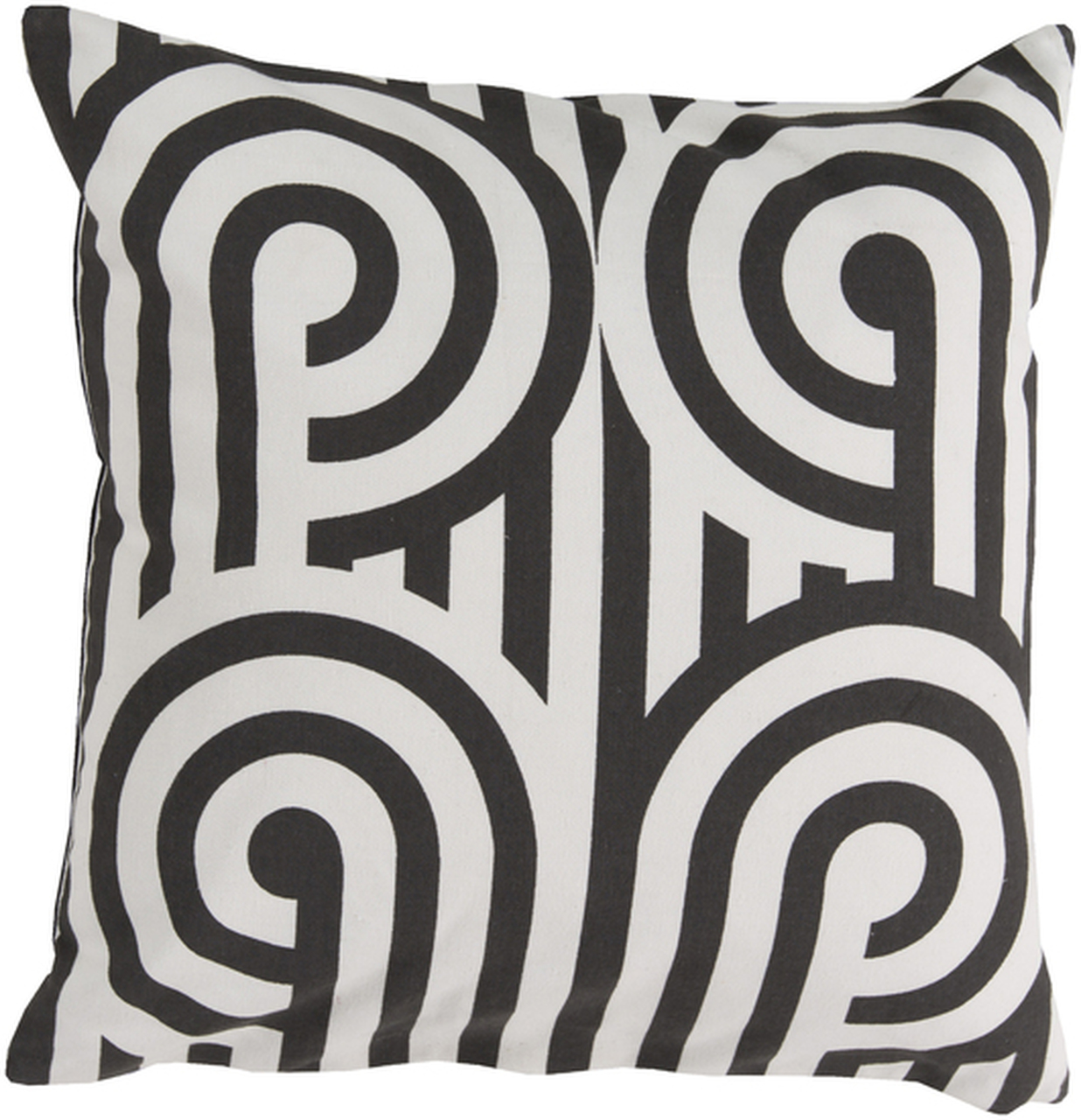 20 romano ionic coal black and white decorative square throw pillow poly filled