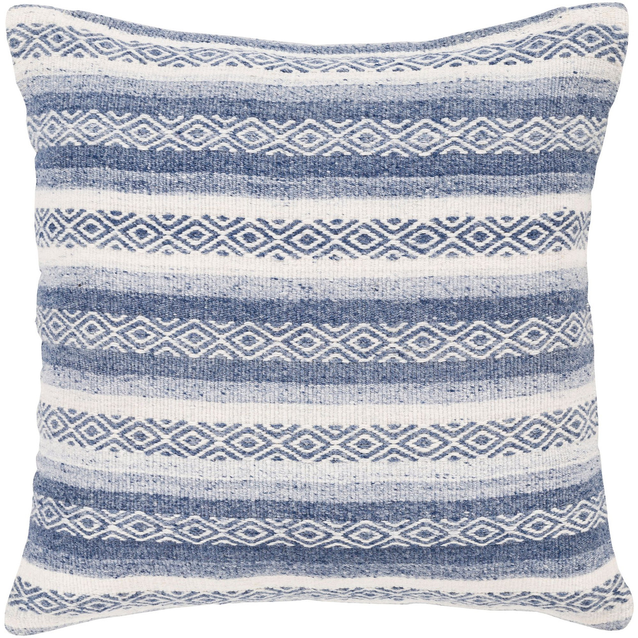 20 navy blue and white geometric square throw pillow cover