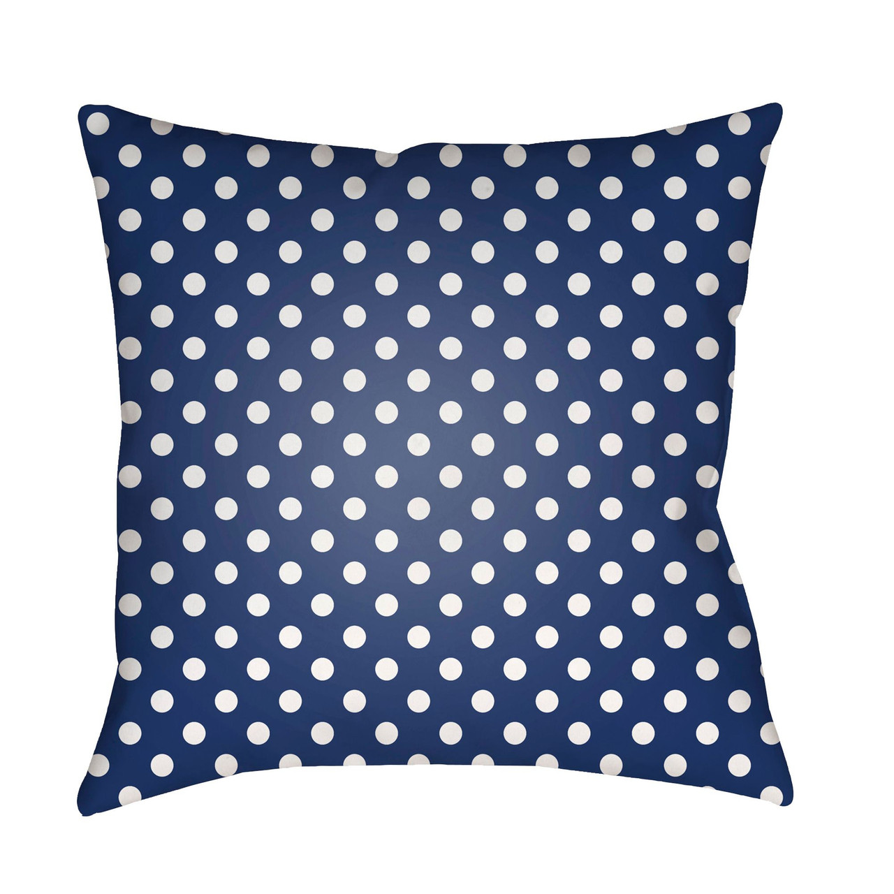 20 blue and white polka dots square throw pillow cover