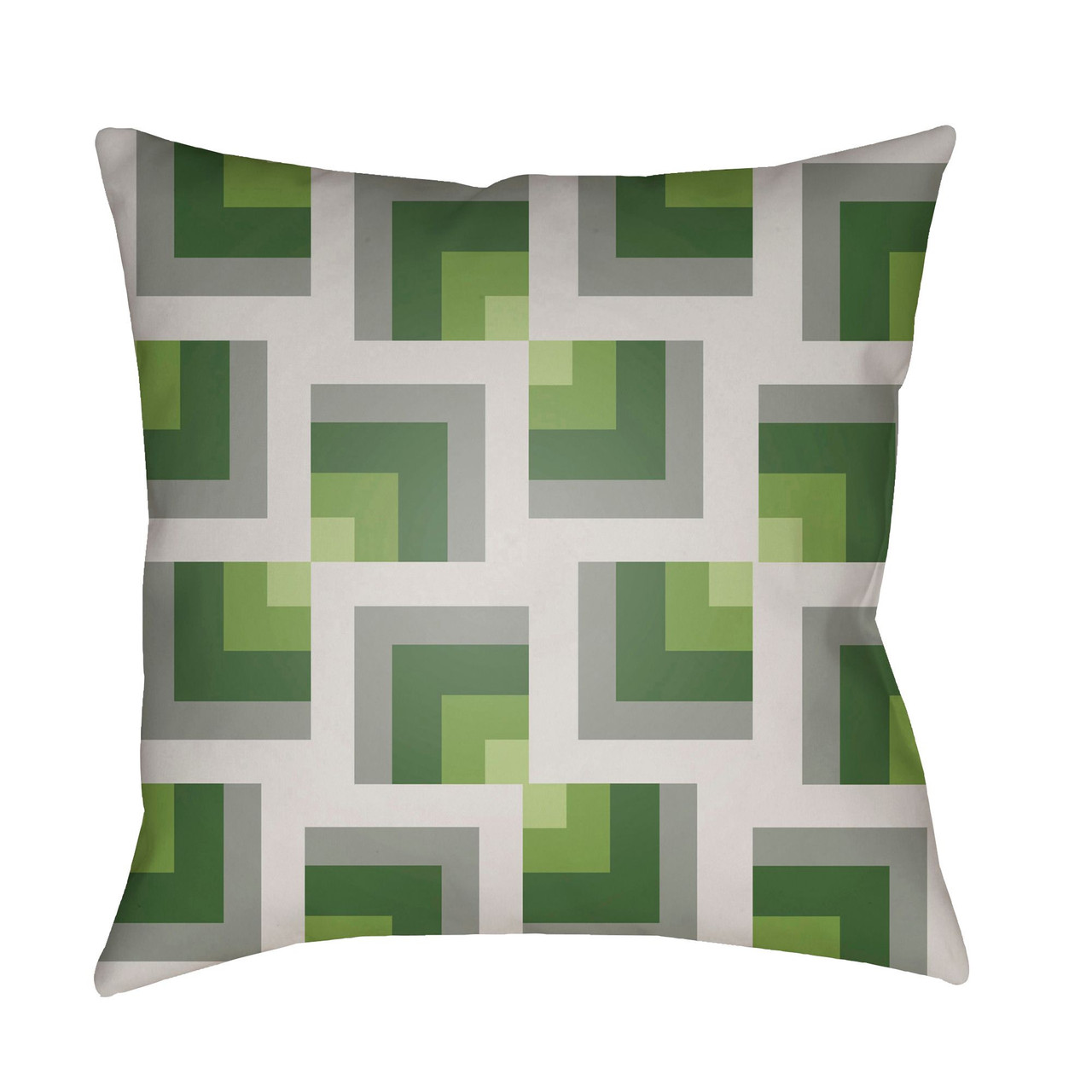 20 gray and olive green throw pillow cover with knife edge