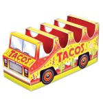 12 Counts Yellow Red 3 D Taco Truck Centerpiece Table Top Decorations 10 5 Christmas Central