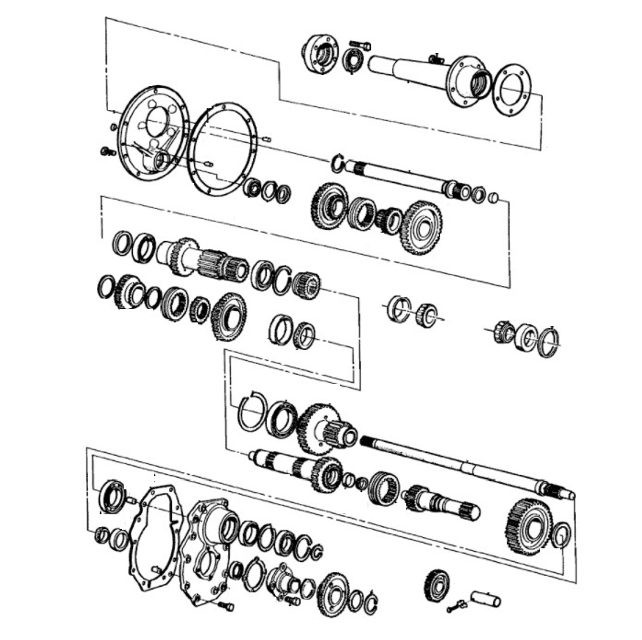 Ford Tractor Transmission Parts- Gears, Shafts, Shift Top