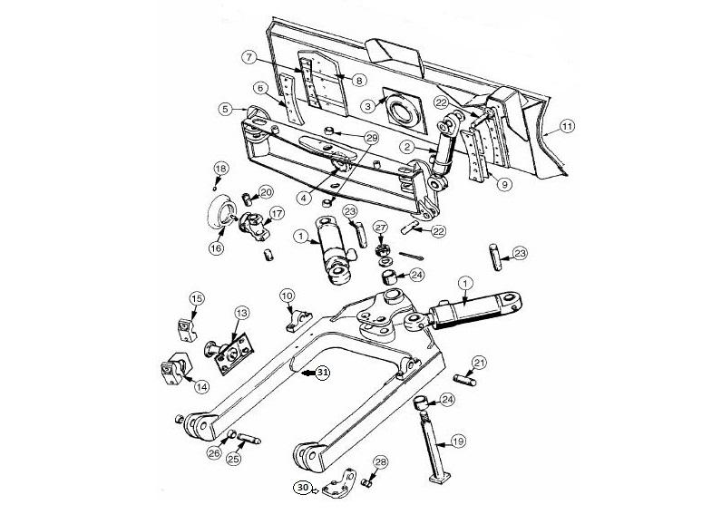 Case Dozer Blade Parts 450, 450B, 450C, 450E, 550, 550E, 550G