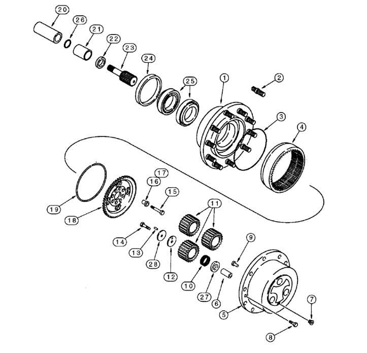 Case Backhoe Rear End Parts