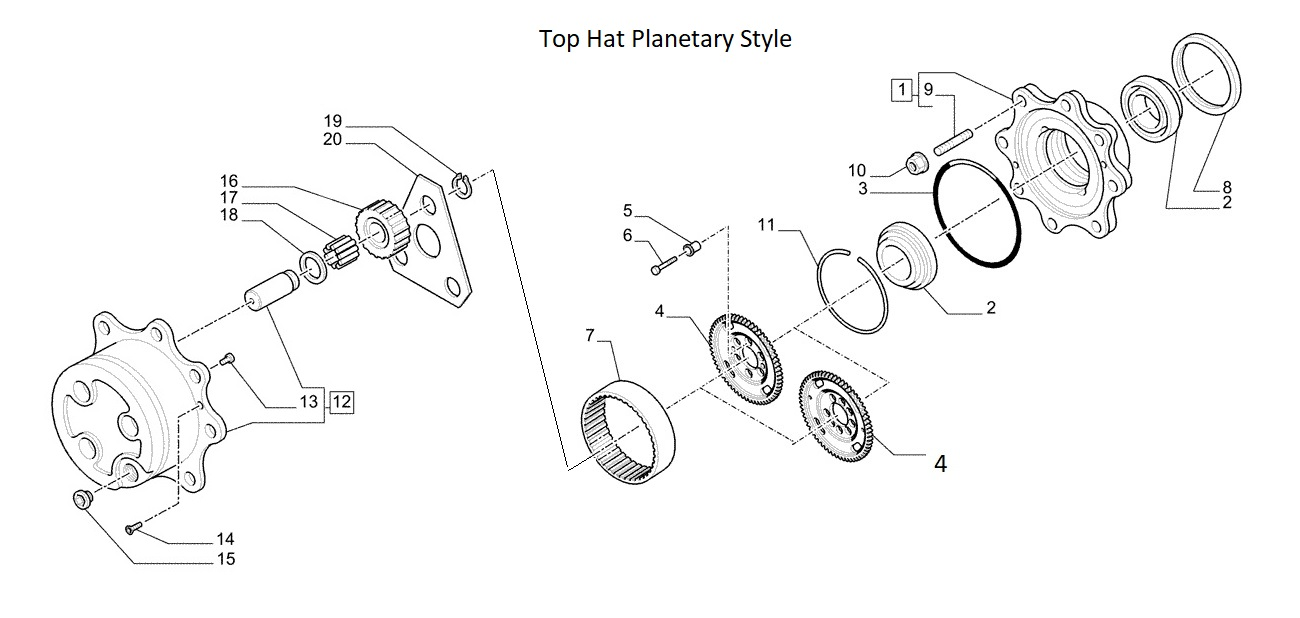 New Holland Backhoe Planetary Assembly ( Four Wheel Drive)