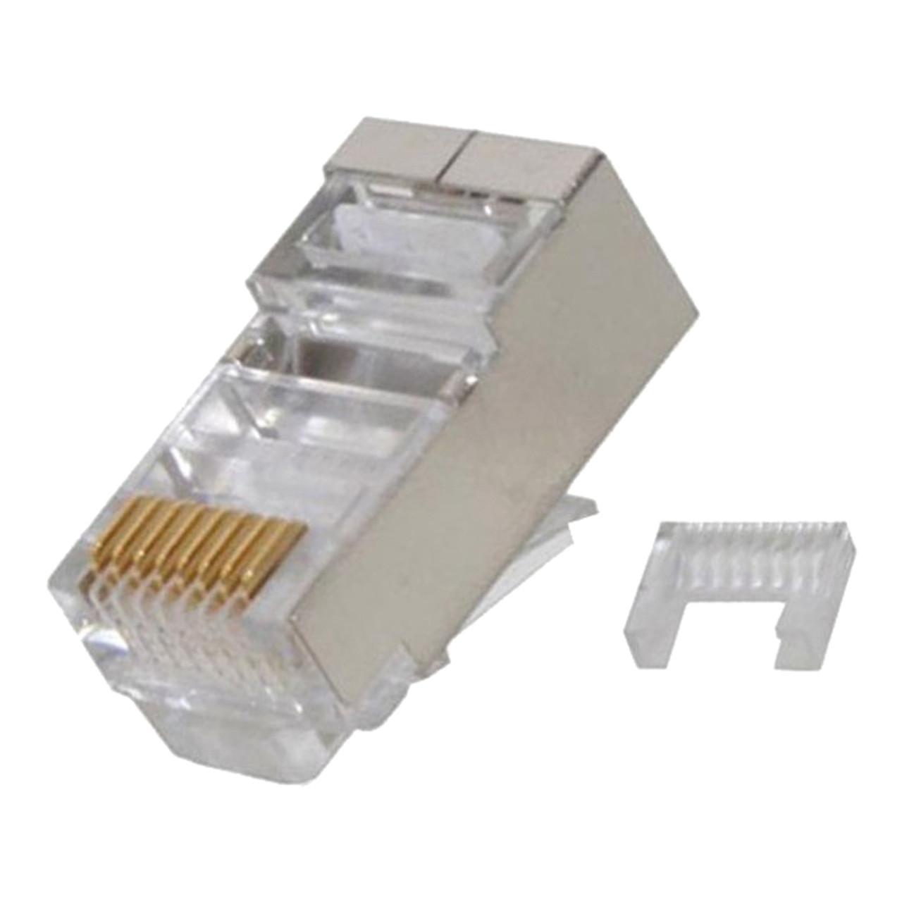 quest nmp 8825 modular plugs 100 pack cat6 rj45 shielded 8p8c  [ 1000 x 1000 Pixel ]
