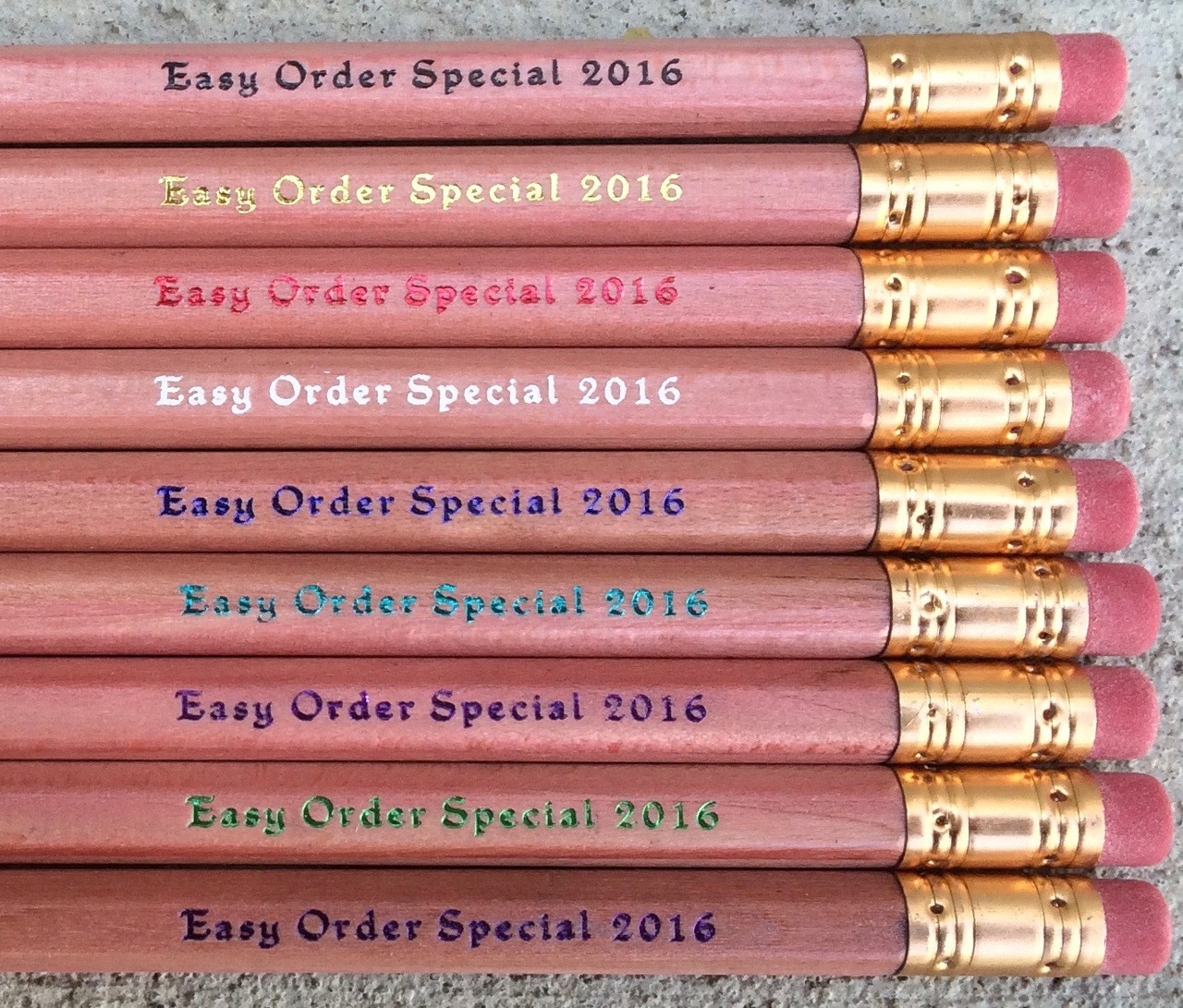 personalized easy order pencil