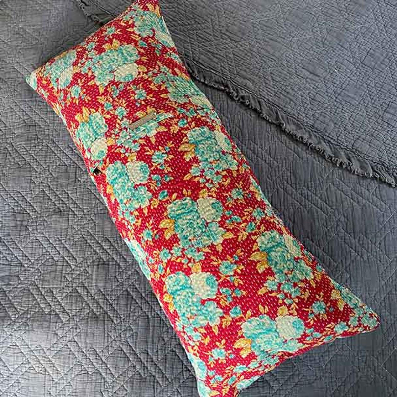 vintage sari yoga pillow lumbar support cushion covers