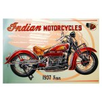 Vintage Indian Motorcycles 1937 Replica Aluminum Sign Wall Decor That S A Buy