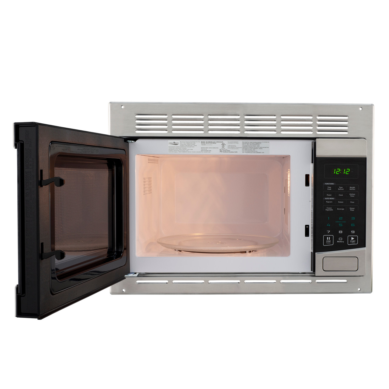 rv conventional microwave stainless