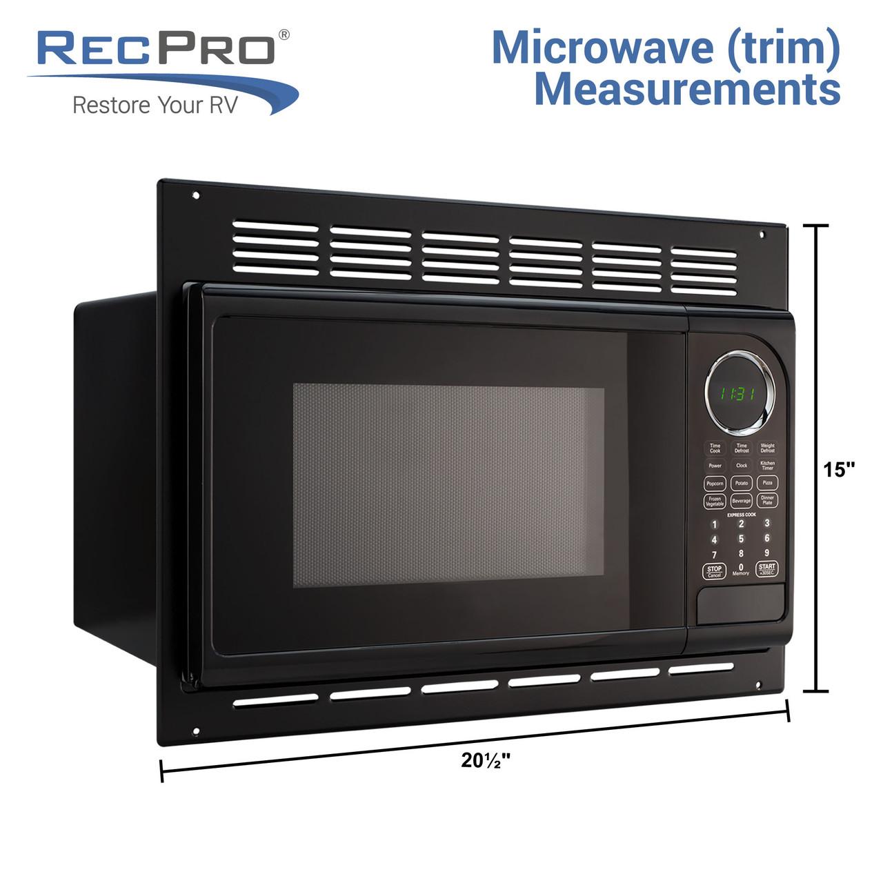 rv conventional microwave black 0 9 cu