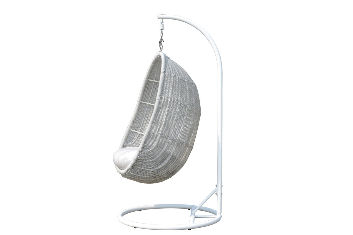 Wicker Egg Chairs For Sale Zoe Outdoor Hanging Egg Chair And Frame Soft Grey Or Black