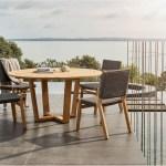 Devon Pegasus Teak Outdoor Round Dining Table 1500