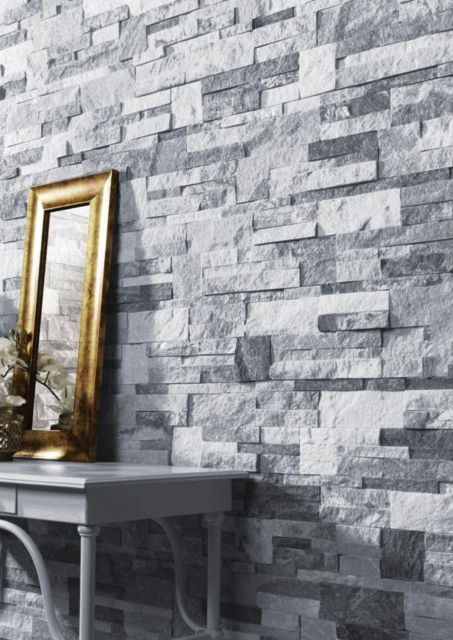 twink split face sparkle grey natural stone tile