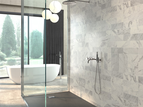 metro grey marble effect bevelled wall