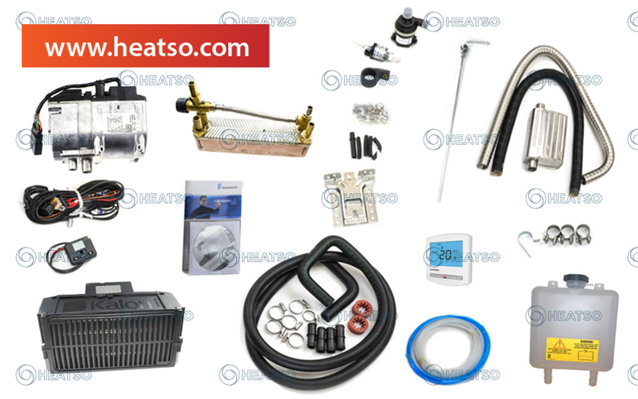 hight resolution of espar eberspacher hydronic d5s rv camper kit for water air heating 12v