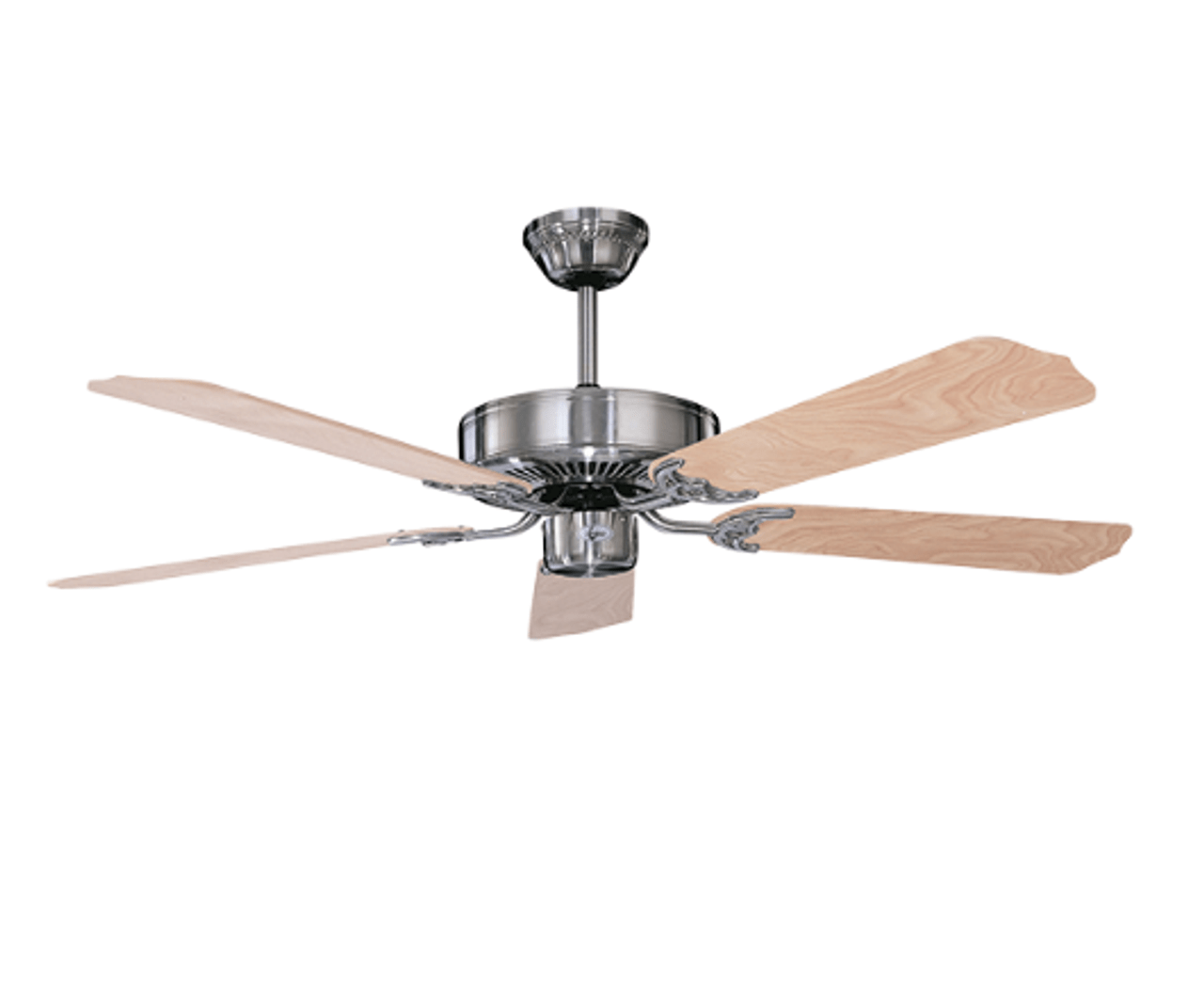 Sunset Cf52242 50 52 5 Natural Pine Blades Stainless Steel California Home Dual Mount Ceiling Fan