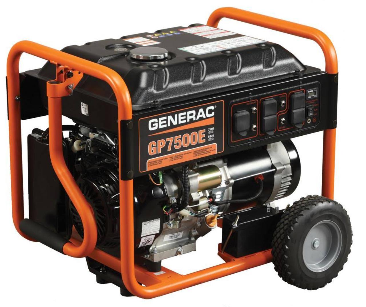 medium resolution of generac 5943 7500 running watts gas powered portable generator carb compliant
