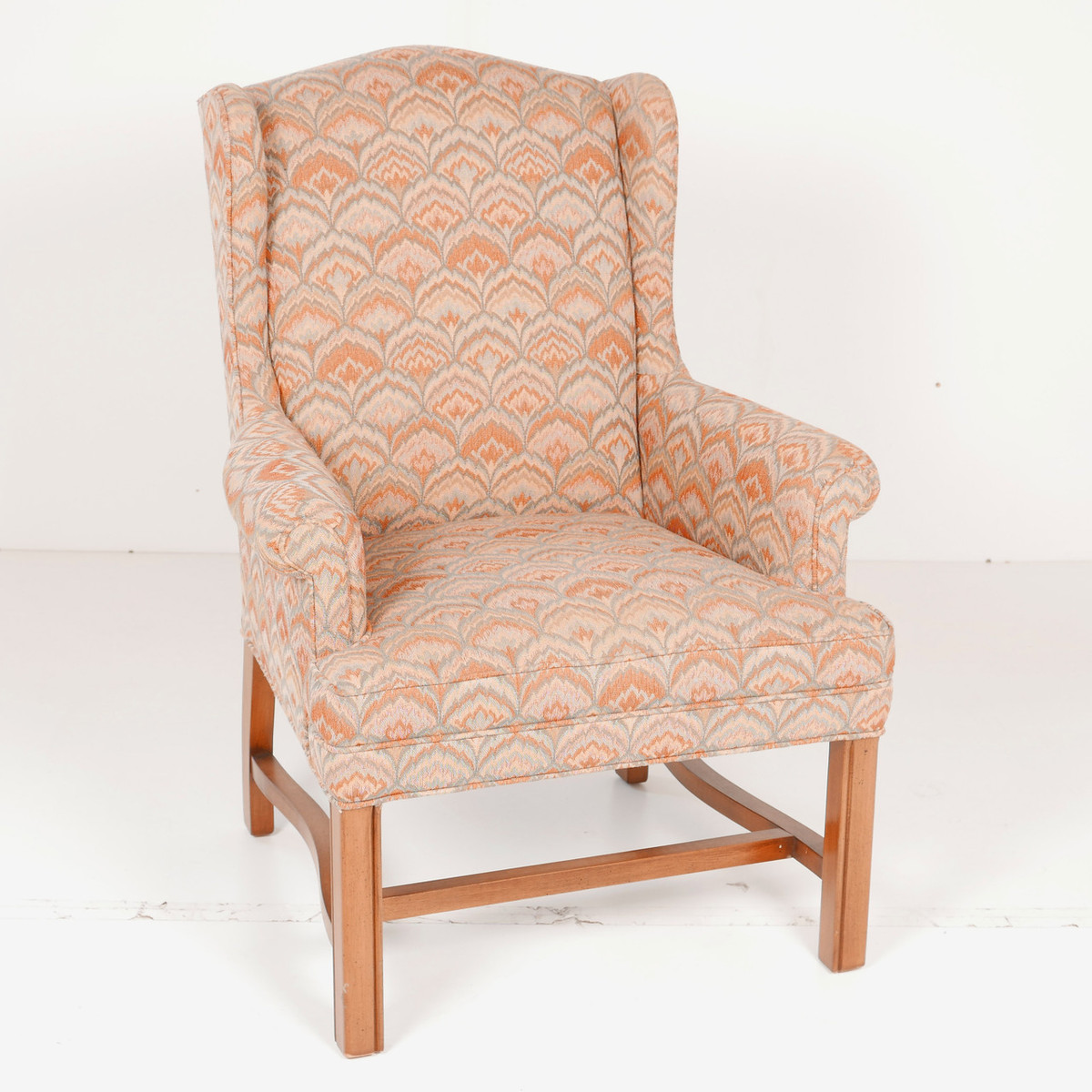 Linen Office Chair Showroom Sample Peach Linen Waiting Room Office Chair