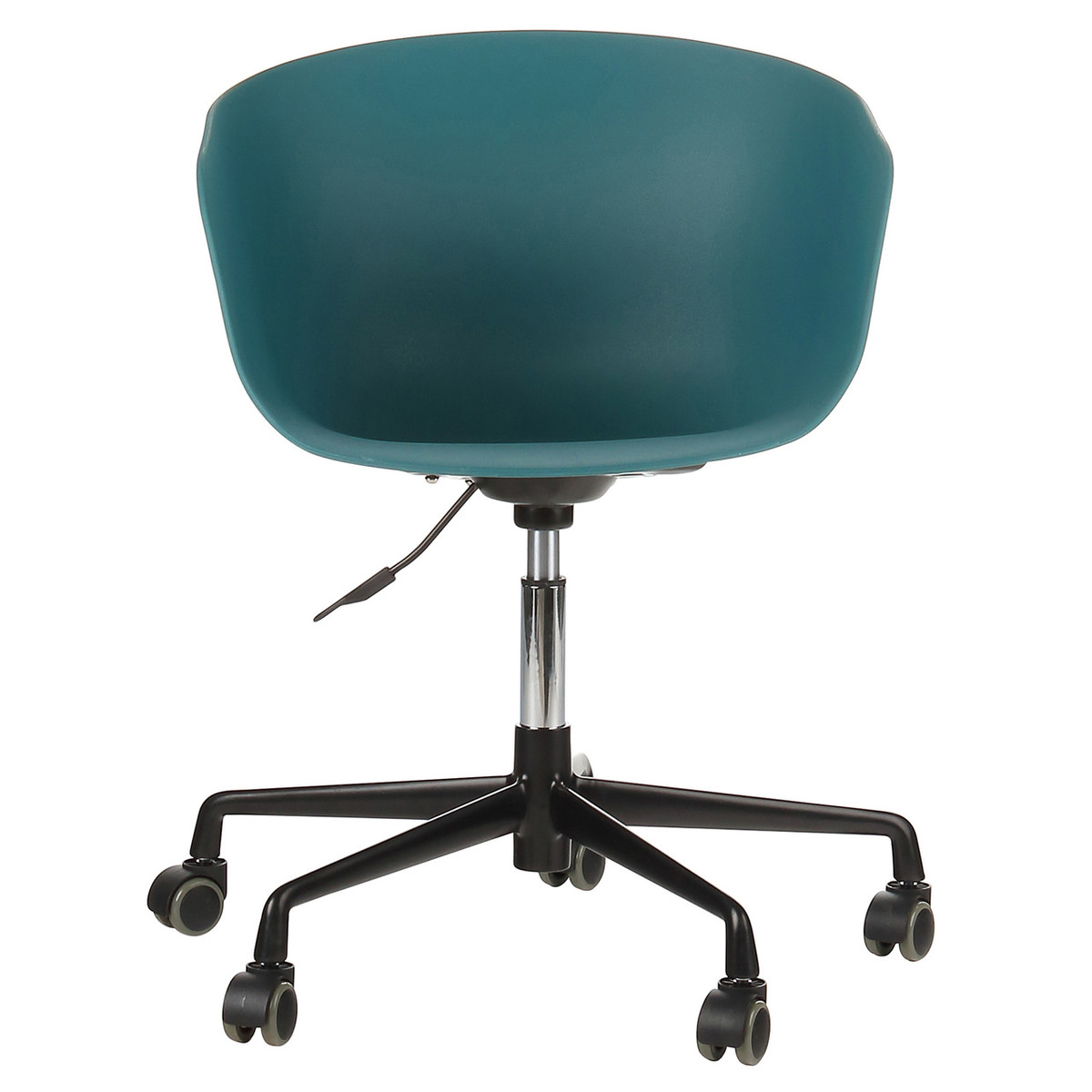 How To Adjust Office Chair Danish Mid Century Modern Teal Office Chair With Black Aluminum Frame