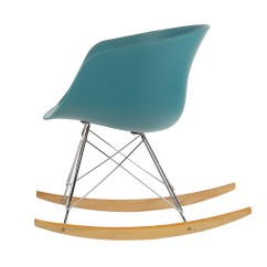Danish Modern Rocking Chair Nova Transport Parts Teal Ja Dn Rc Tl Joseph Allen Home