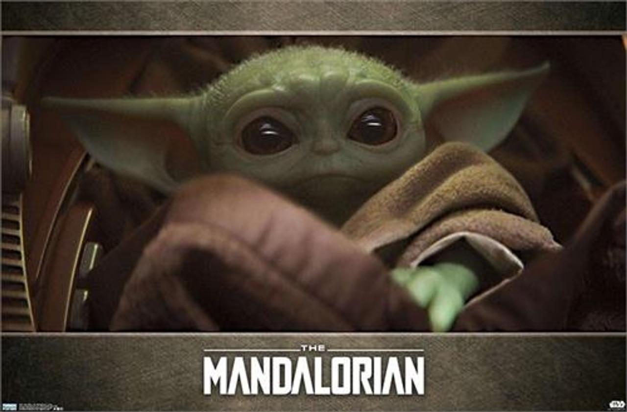 star wars the mandalorian baby yoda poster 34 x 22 375
