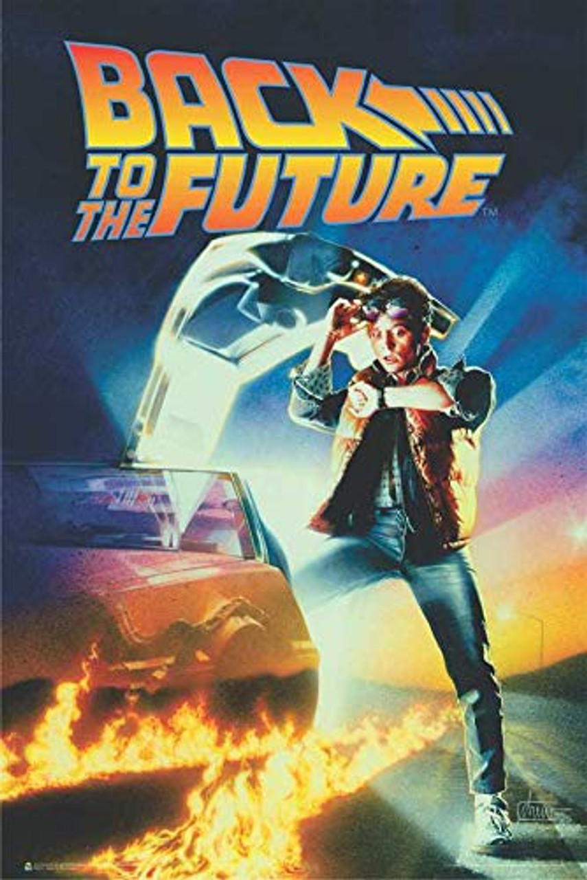 back to the future official movie poster 24 by 36 inches