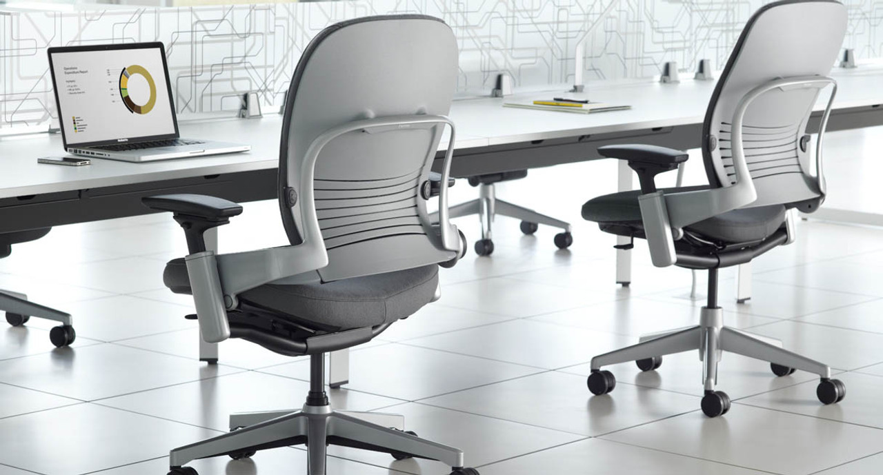 steelcase leap chair white leather egg and ottoman uplift desk ergonomic workspaces deserve a that can deliver surprising range of comfort inducing features