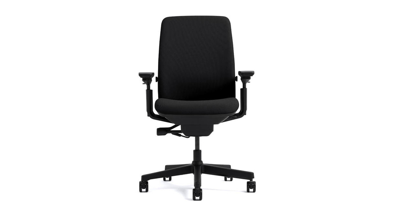 steelcase amia chair brochure grey leather dining room chairs uplift desk the s arm height can adjust independently within a 4 inch range to help