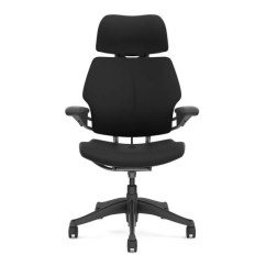 Office Chair With Headrest Wedding Throne Chairs For Sale Humanscale Freedom Uplift Desk The S Position Sensitive Moves Into Place When You Recline And Out Of