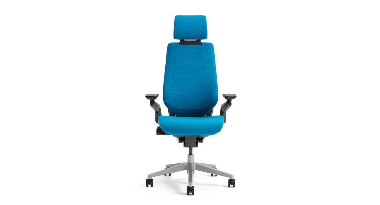 steelcase gesture chair graco swing vibrating with headrest shop uplift desk the comes a high degree of adjustability