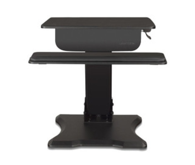 Pneumatic Adjustment On The Standing Desk Converter Requires No Electrical Outlet