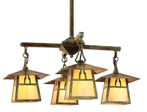 mission style chandeliers craftsman