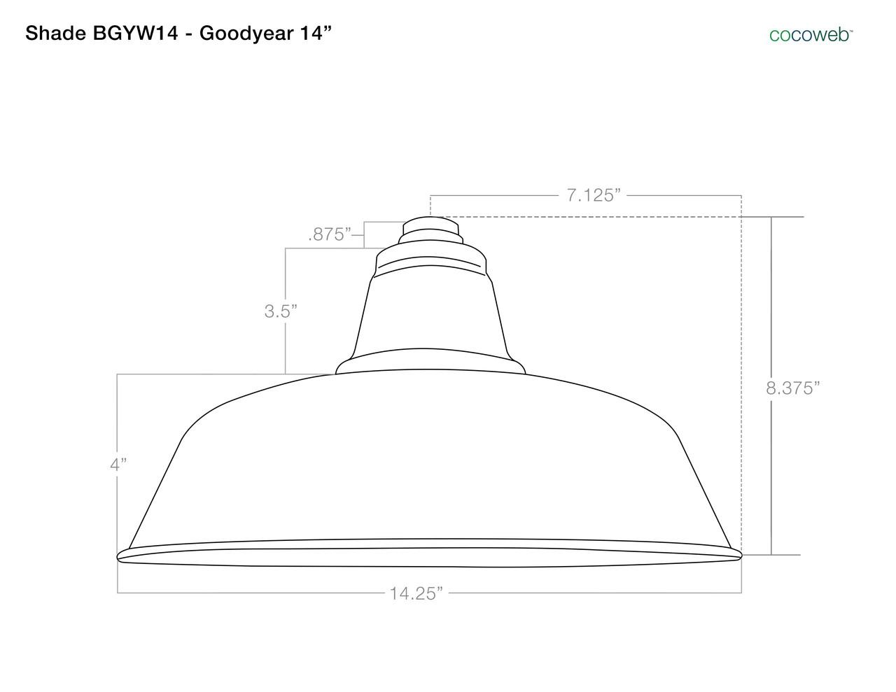 industrial galvanized silver 14 goodyear led indoor outdoor barn lights  [ 1280 x 989 Pixel ]