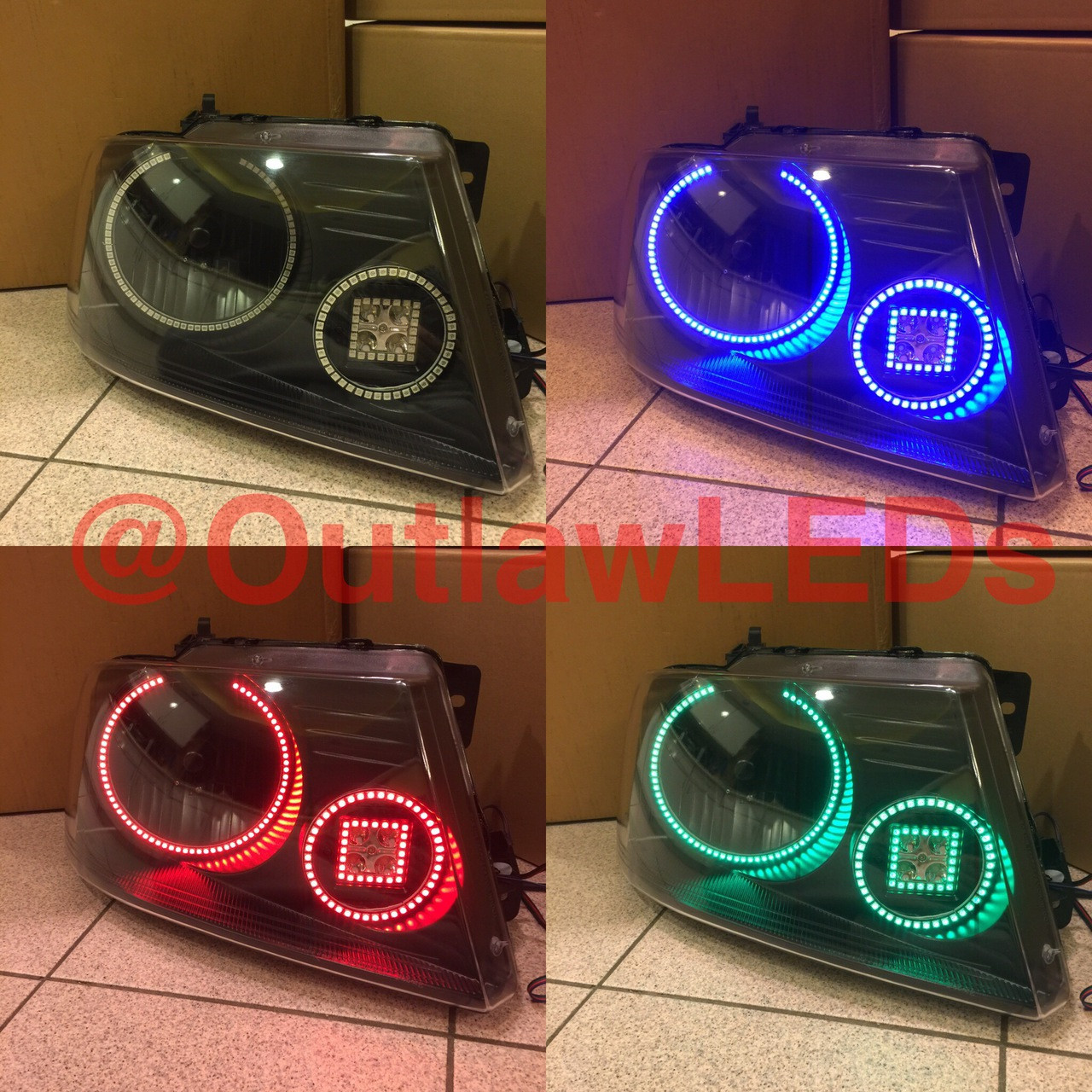 hight resolution of f150 halo projector headlight