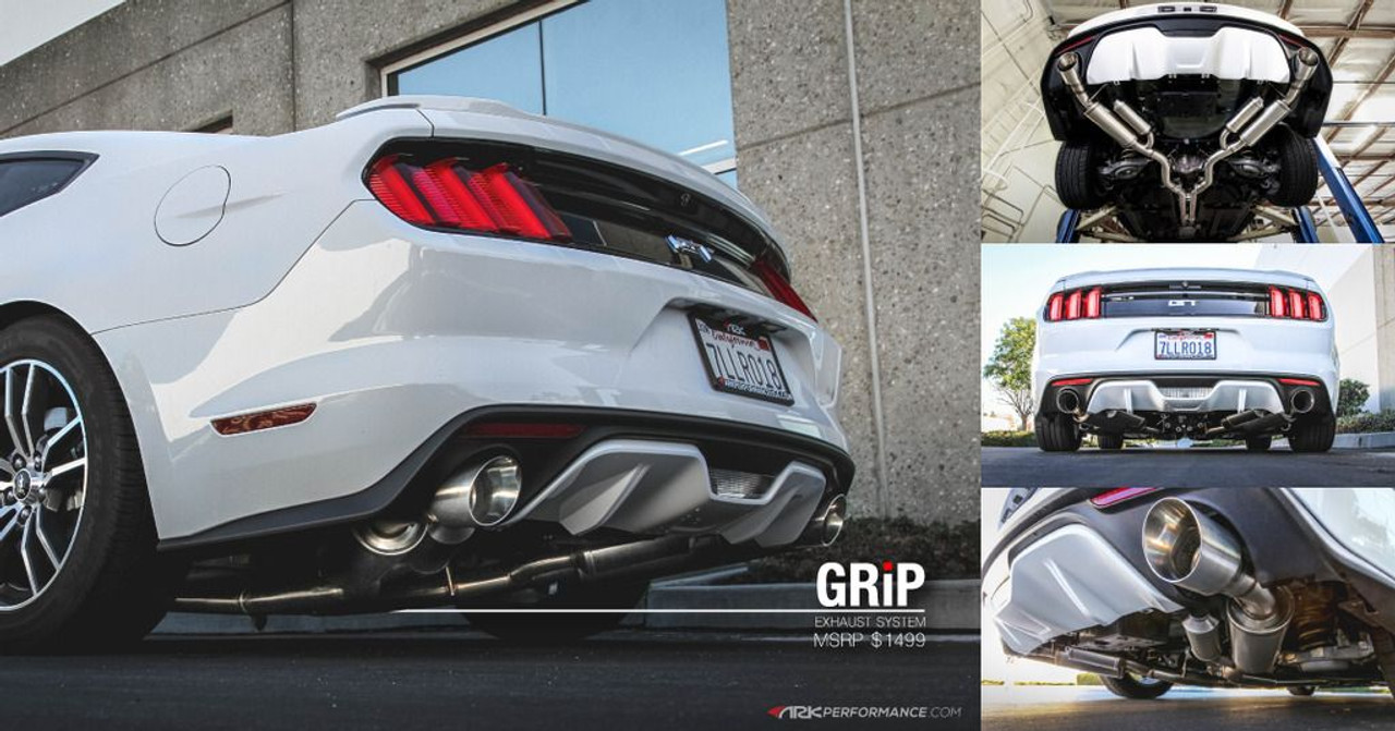 ark grip cat back exhaust for 2015 17 ford mustang gt v6 s550 sm0503 0115g