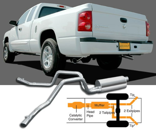 gibson extreme dual exhaust ford ranger 98 05