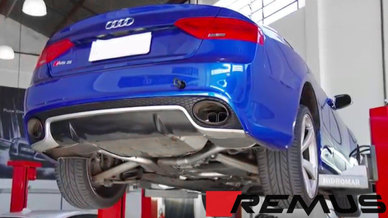 remus valved sport exhaust for 2010 audi rs5 b8 049010 0500lr