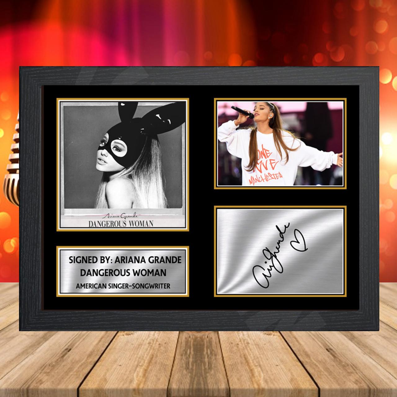 ariana grande dangerous woman 2 signed autographed music landscape star print