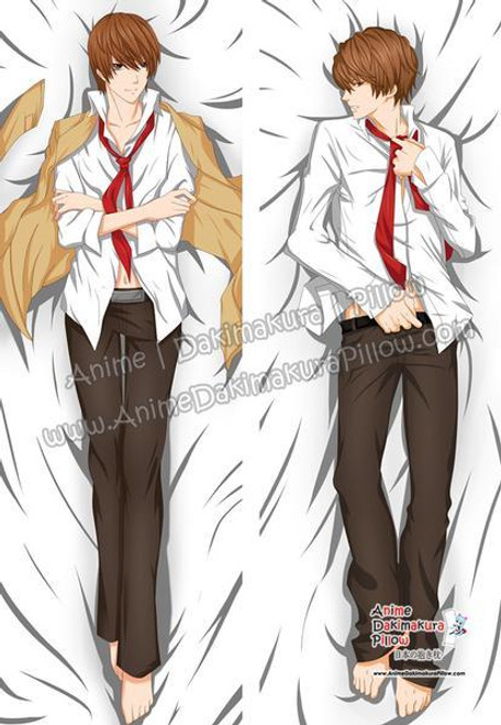 Male Anime Body Pillow : anime, pillow, Yagami, Light, Death, Anime, Dakimakura, Japanese, Hugging, Pillow, Cover, ADP78102