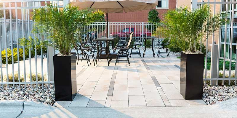 large outdoor planters decorative