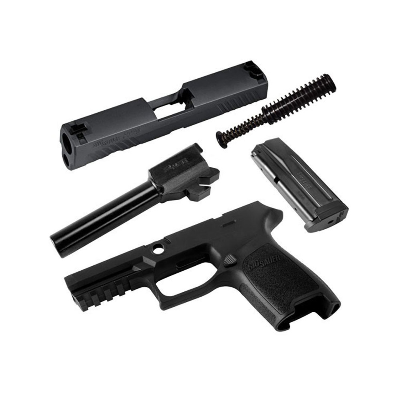 sig sauer p320 compact 9mm 15rd mag black caliber x change kit calx  [ 1001 x 1001 Pixel ]