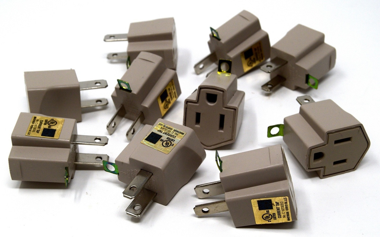 small resolution of 20 pieces electrical ground adapter 2 prong outlet to 3 prong plug ac ul listed