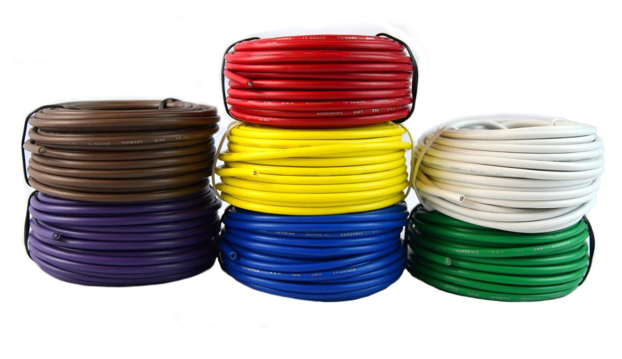 14 gauge trailer light cable wiring harness 25 feet each 7 rolls 175 feet total [ 1280 x 739 Pixel ]