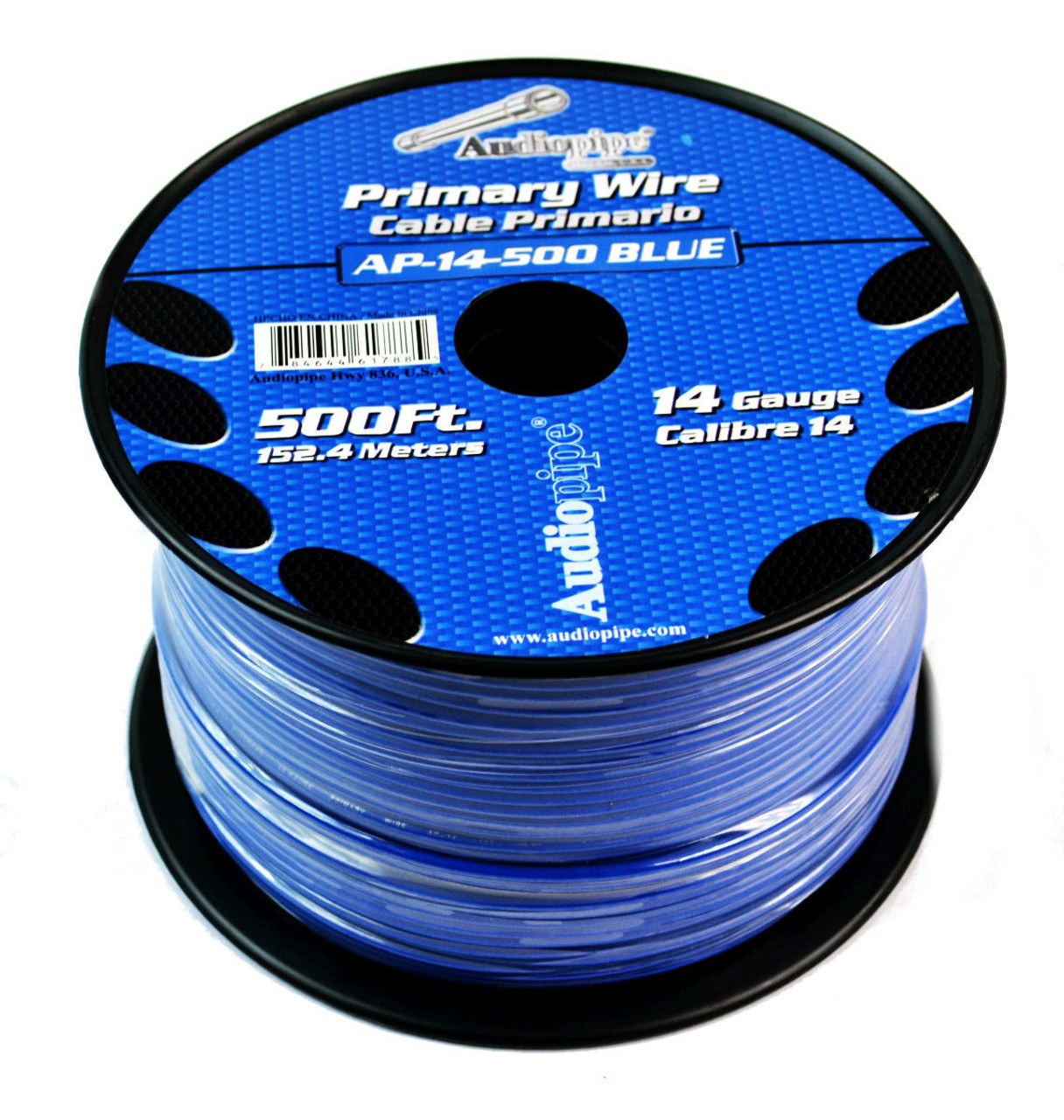hight resolution of 14 ga 500 blue audiopipe car audio home primary remote wire