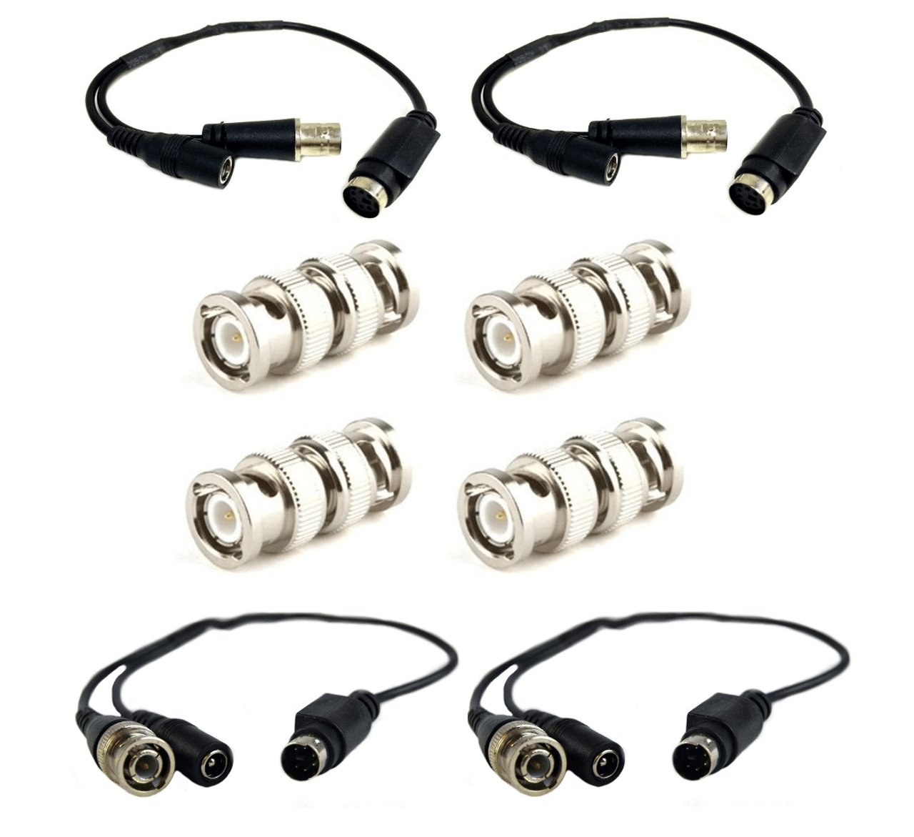 hight resolution of 2 pair male female lorex cable 4 pin din connector w 4 bnc
