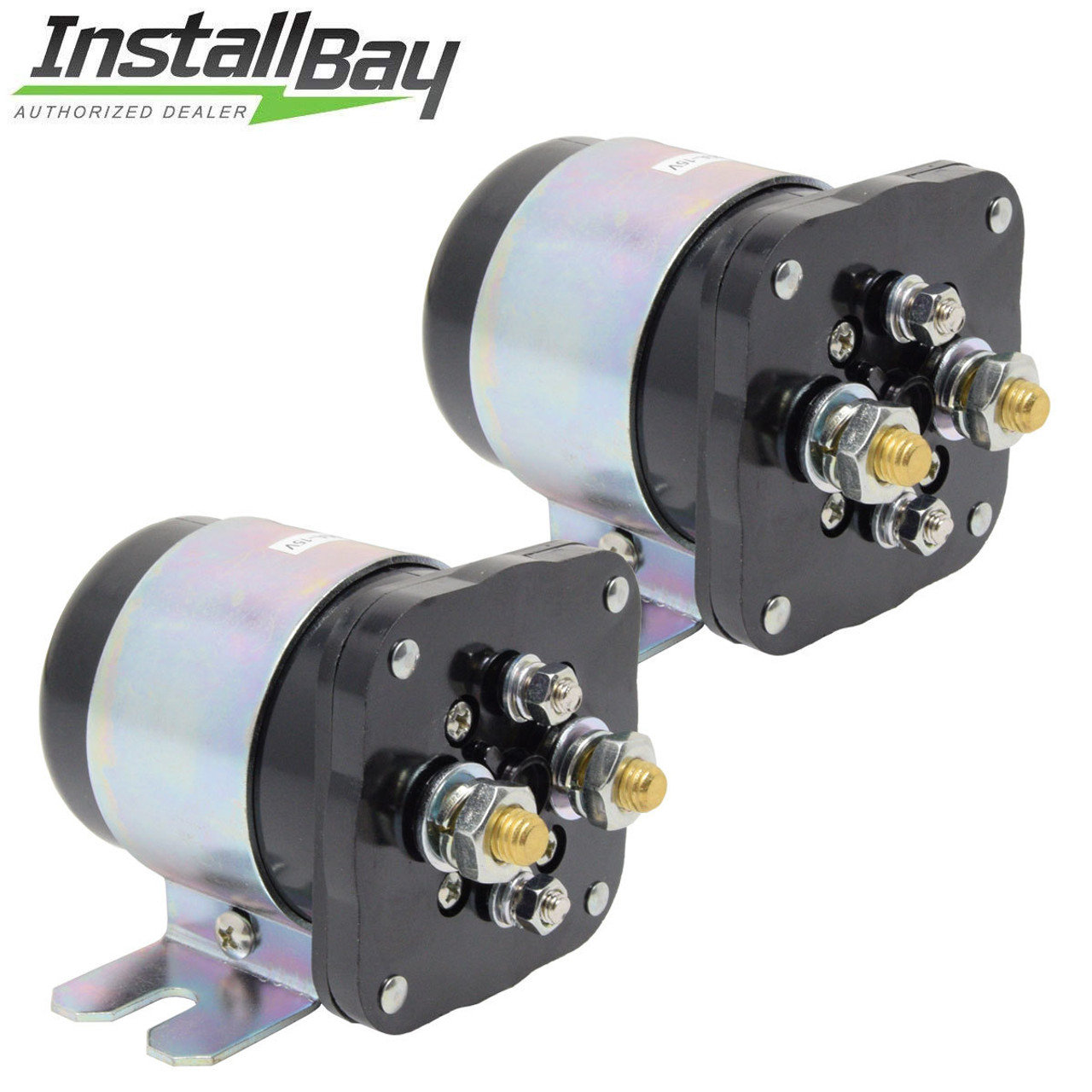 small resolution of 2 pcs power relay battery isolator 500 amp high current 12v metra by install bay