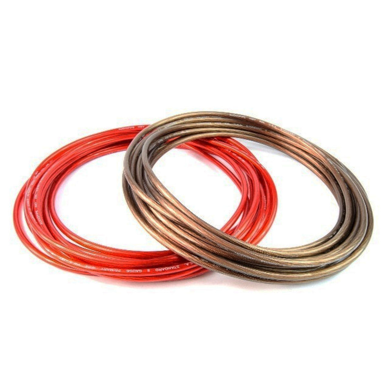hight resolution of 8 gauge 25ft black 25ft red power ground wire for car audio amplifier systems