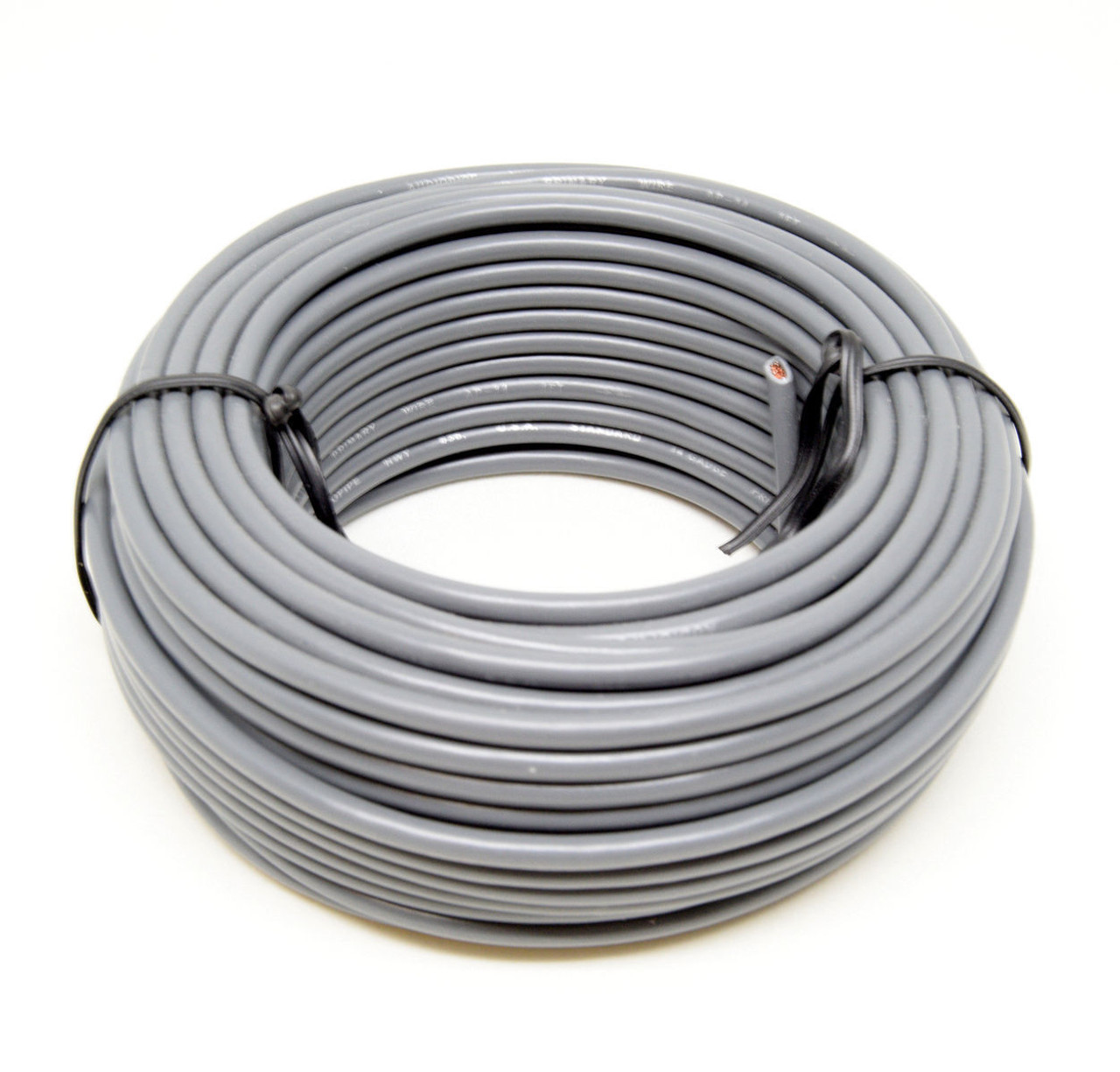 hight resolution of 14 ga 50 gray audiopipe car audio home remote primary cable wire