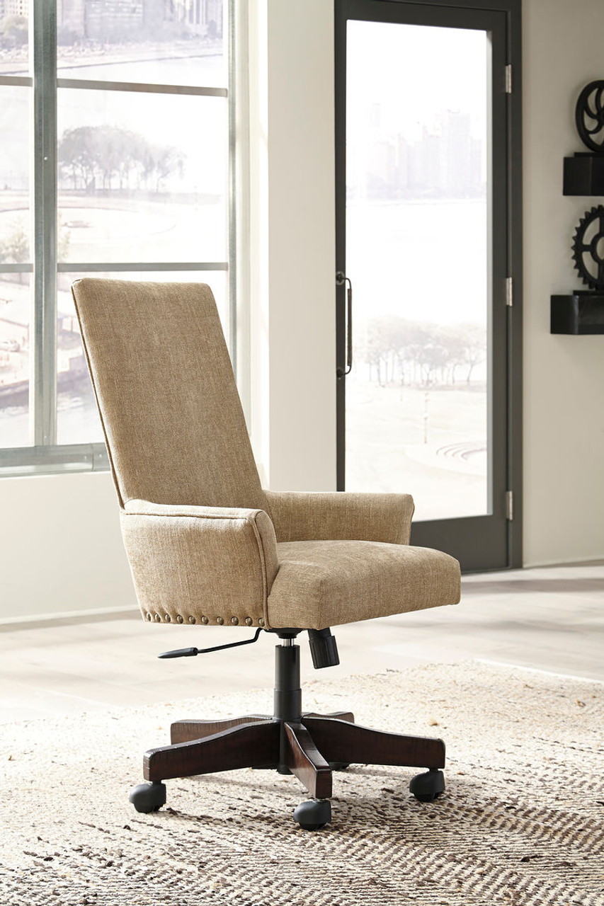 swivel chair regal cover ideas for party the baldridge light brown upholstered desk available at